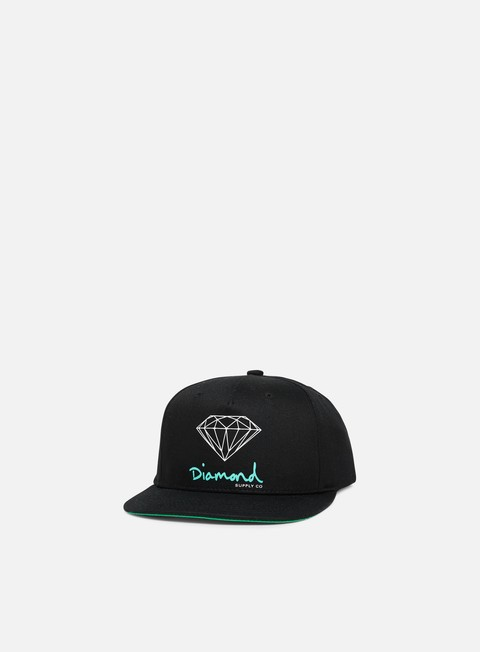 cappellini diamond supply og sign core snapback black