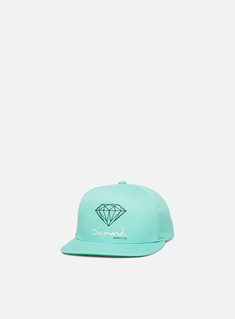 cappellini diamond supply og sign core snapback diamond blue