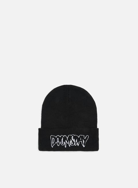 cappellini doomsday logo beanie black white