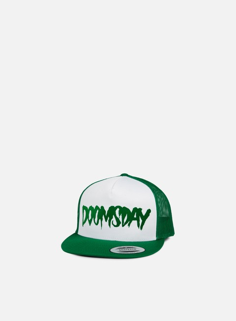 cappellini doomsday logo spiderweb trucker snapback green