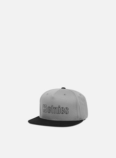 Etnies - Corporate 5 Snapback, Grey/Black