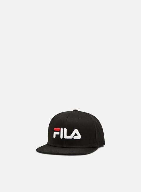 cappellini fila 6 panel classic cap black