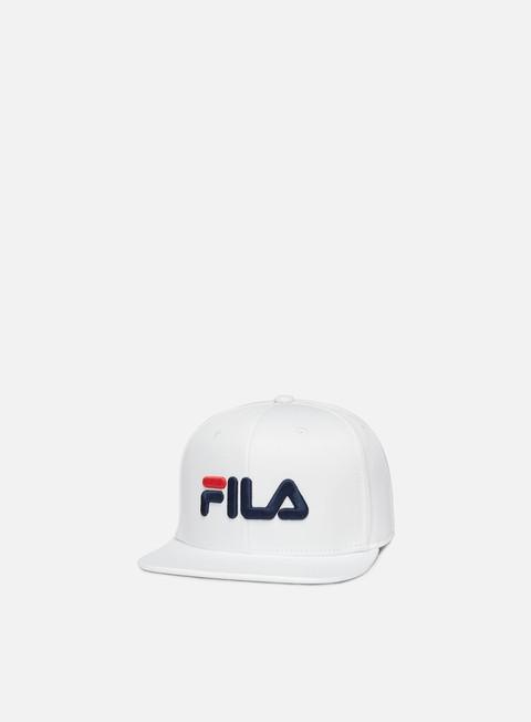 cappellini fila 6 panel classic cap bright white