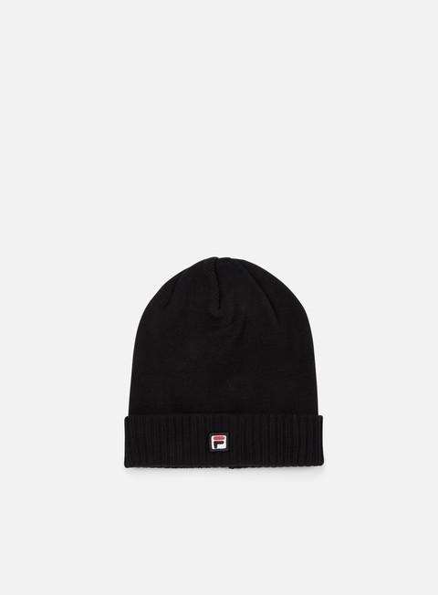 cappellini fila logo beanie black