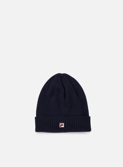 cappellini fila logo beanie black iris
