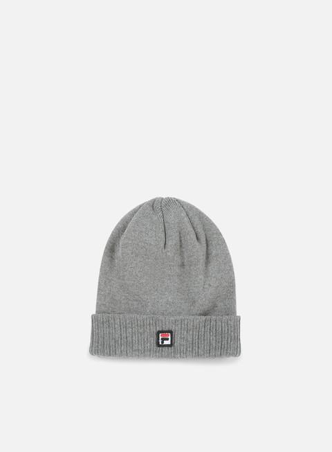 cappellini fila logo beanie light grey melange