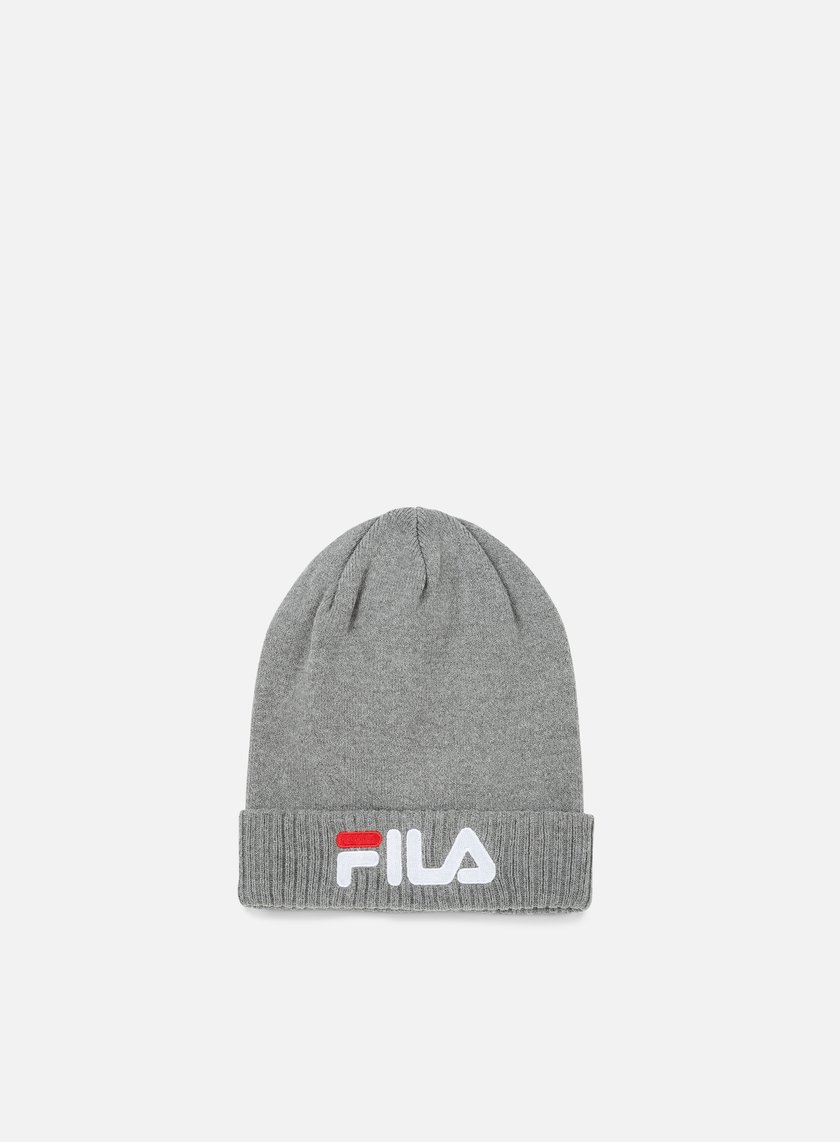 Fila - Slouchy Beanie, Light Grey Melange