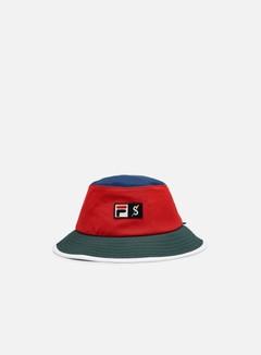 Fila - Spectrum Corporate Bucket Hat, Red/Navy Blue