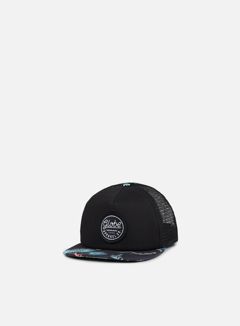 cappellini globe expedition trucker snapback black multicolor