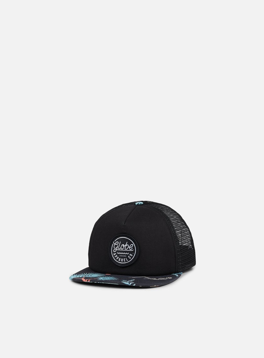 Globe - Expedition Trucker Snapback, Black/Multicolor