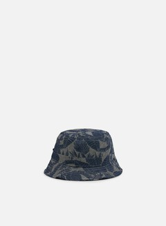 Globe - Union Bucket Hat, Grey/Palms 1