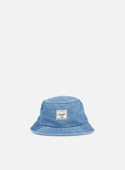 cappellini herschel lake bucket hat faded denim