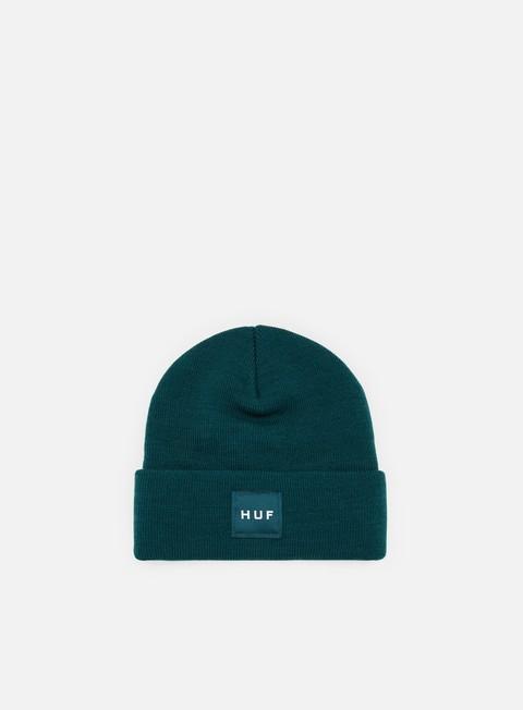 cappellini huf box logo beanie jade