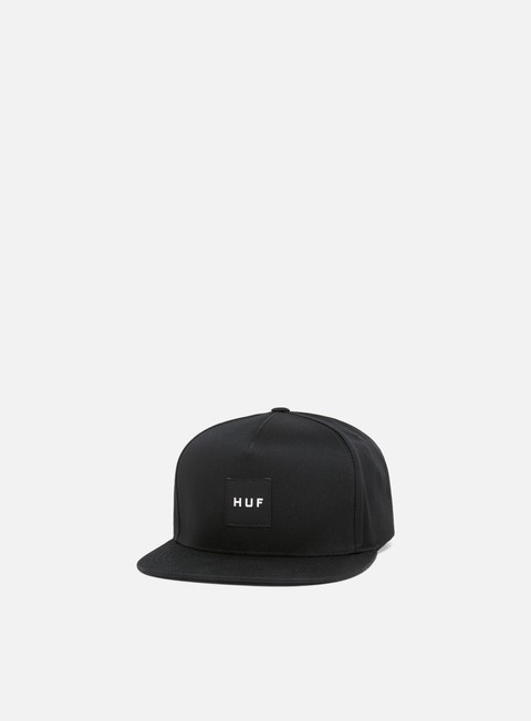 cappellini huf box logo snapback black black