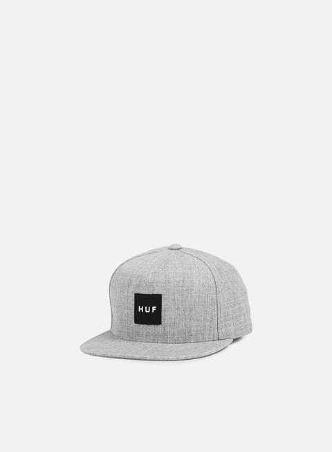 cappellini huf box logo snapback grey heather