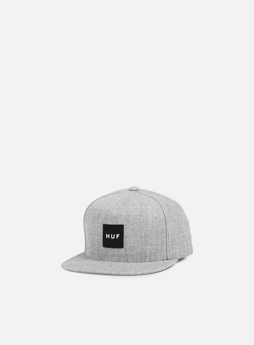 Huf - Box Logo Snapback, Grey Heather