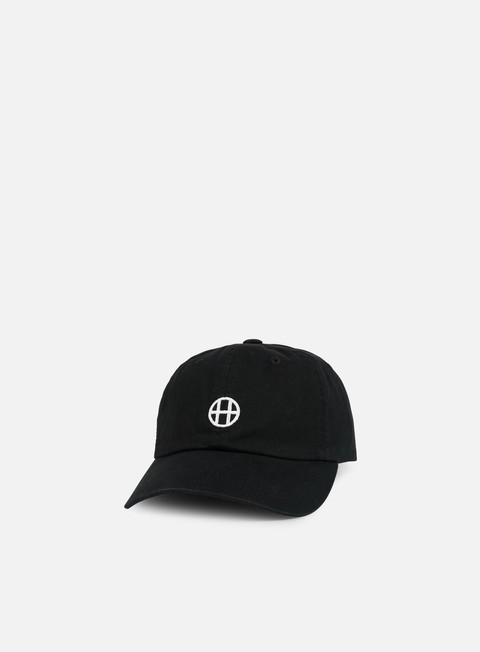 cappellini huf circle h 6 panel hat black
