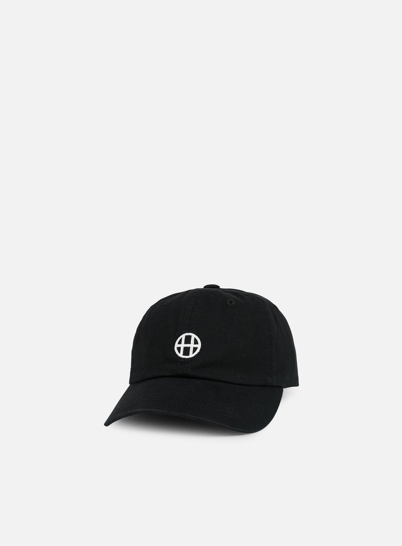 Huf - Circle H 6 Panel Hat, Black
