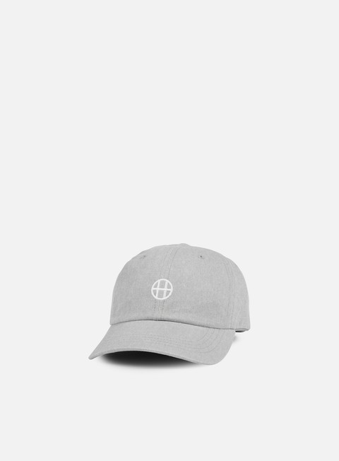 cappellini huf circle h 6 panel hat grey heather