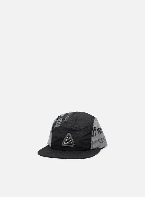 5 Panel Caps Huf Conceal Pocket Volley Hat