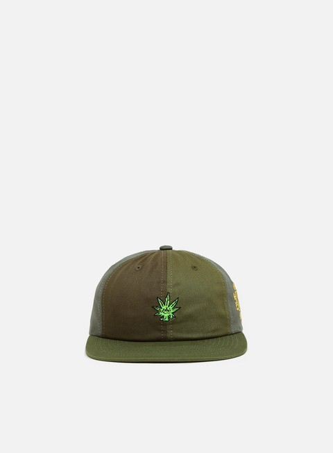 5 Panel Caps Huf Easy Green Contrast 6 Panel Hat