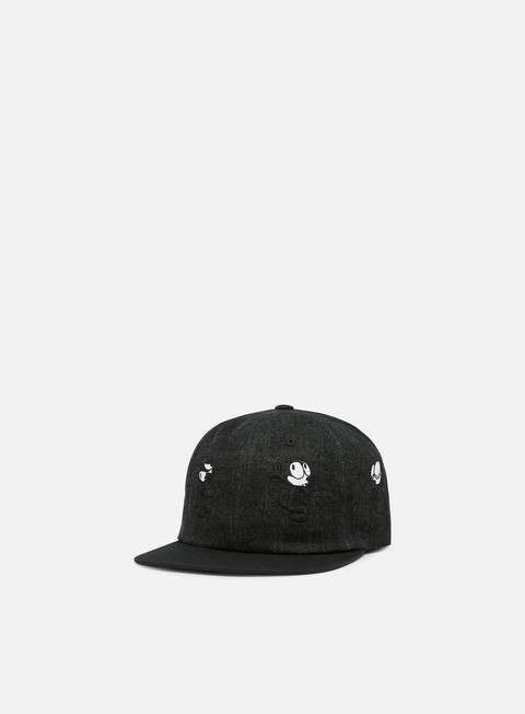 cappellini huf felix doing things 6 panel hat black