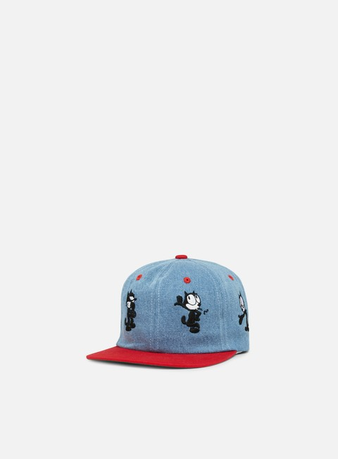 cappellini huf felix doing things 6 panel hat blue