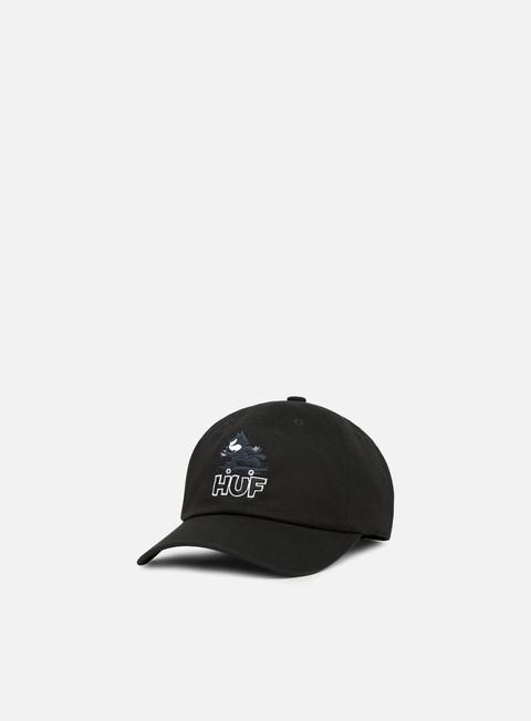 cappellini huf felix skate curve brim hat black