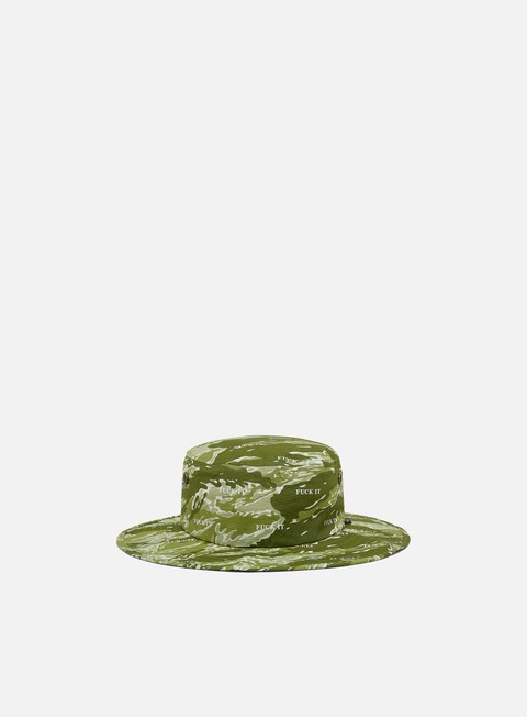 Cappellini Bucket Huf Fuck It Tiger Camo Boonie Hat