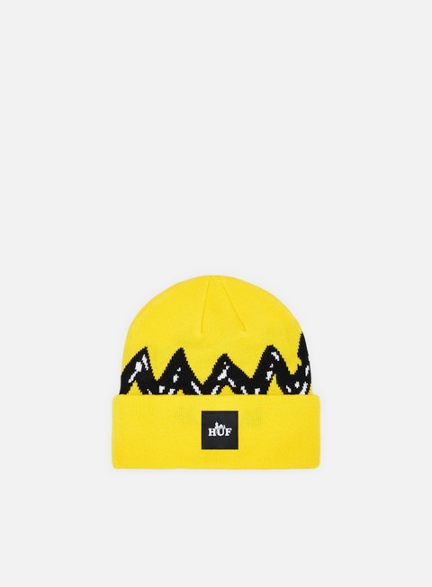 cappellini huf peanuts charlie brown beanie yellow