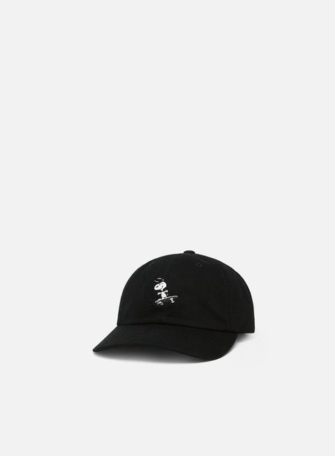 cappellini huf peanuts snoopy sk8 six panel black