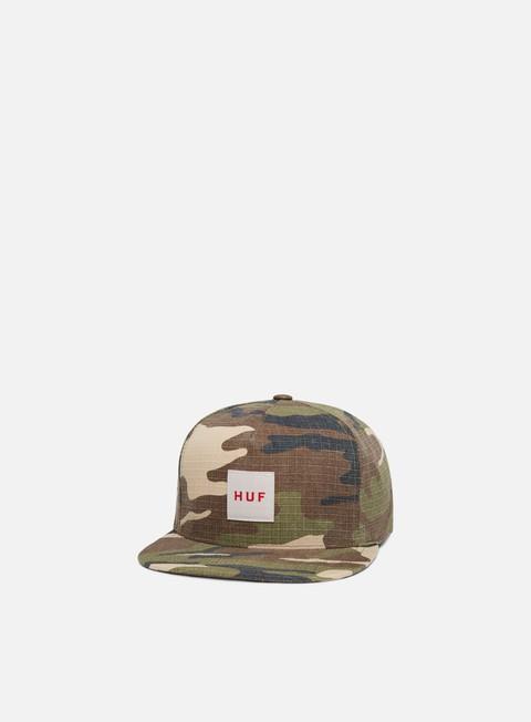 cappellini huf ripstop box logo snapback deep olive