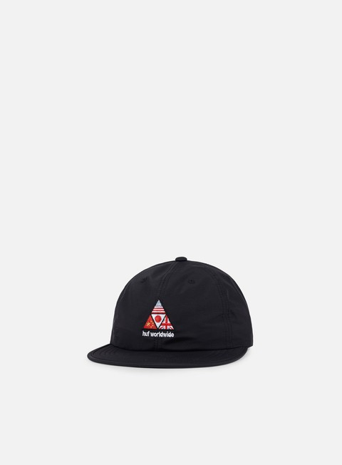 cappellini huf stadium offsides 6 panel hat black