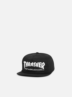 Huf - Thrasher Collab Logo Snapback, Black 1