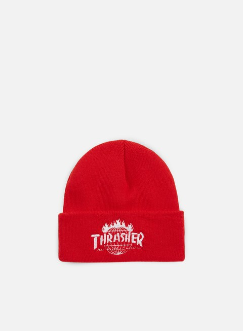cappellini huf thrasher tds beanie red