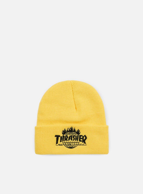 Huf - Thrasher TDS Beanie, Yellow