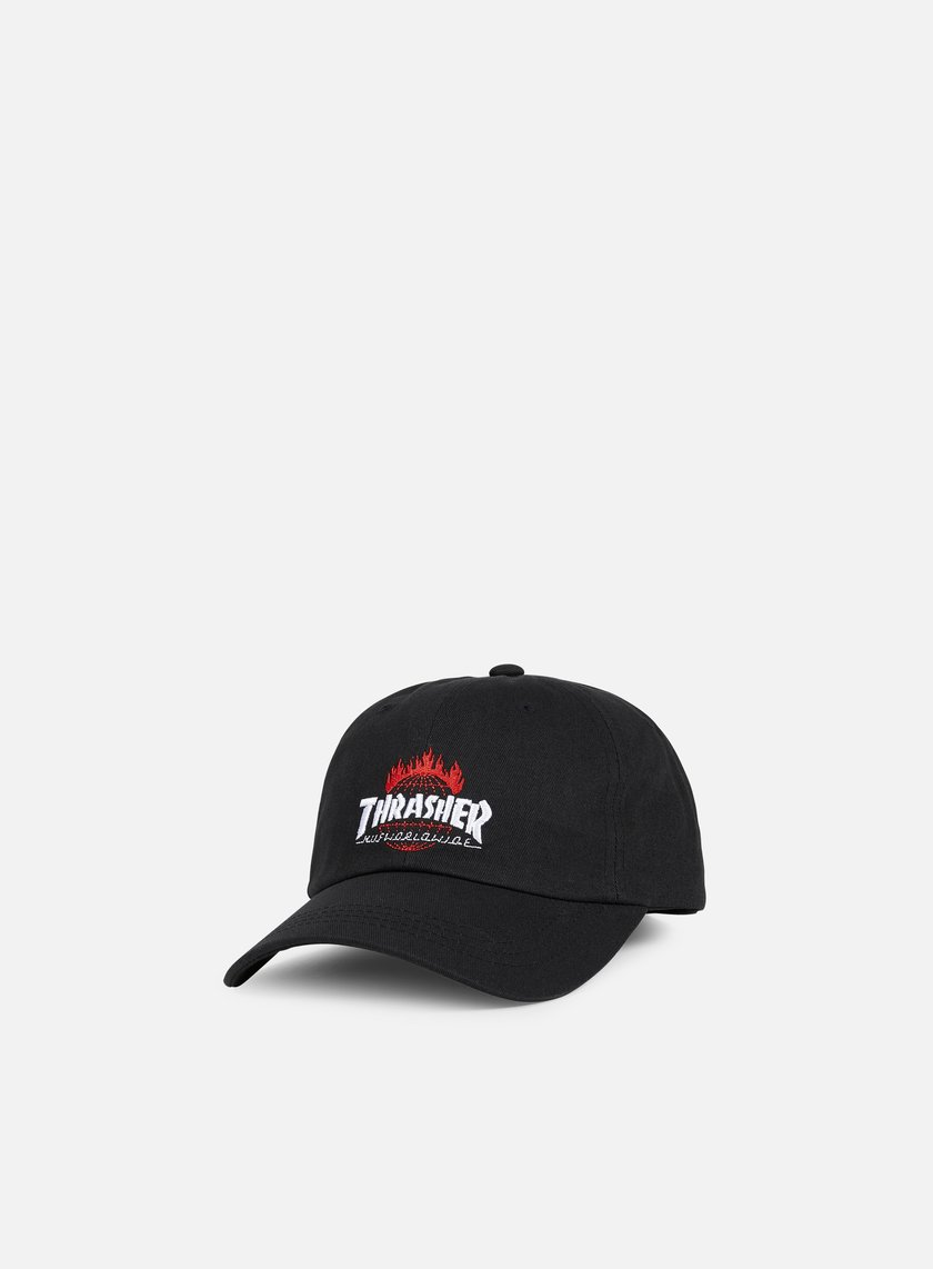 Huf - Thrasher TDS Curved Brim 6 Panel, Black
