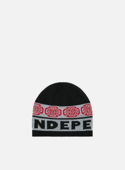 cappellini independent woven crosses beanie black charcoal