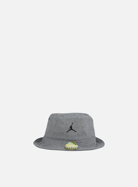 cappellini jordan 23 lux bucket hat black heather cool grey