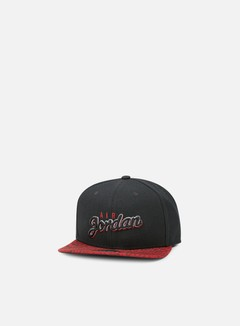 Jordan - Air Jordan Seasonal Print Snapback, Black/Gym Red