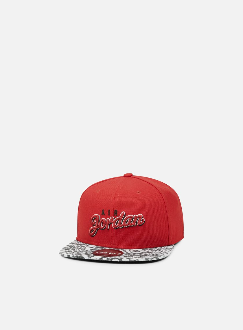 Jordan - Air Jordan Seasonal Print Snapback, Gym Red/Wolf Grey