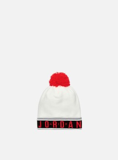 546113 014 NIKE BEANIE-POM Black//White-University Red