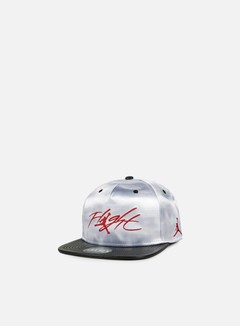 Jordan - Cloud Print Snapback, Wolf Grey/Gym Red 1
