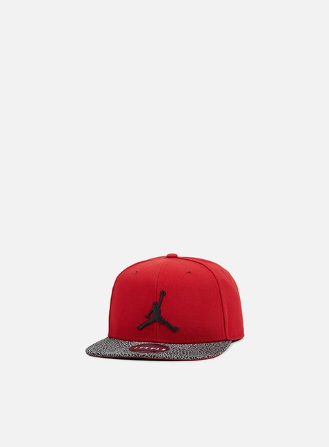 cappellini jordan elephant bill snapback gym red black