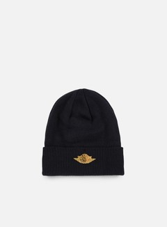 Jordan - Jumpman Cuff Beanie, Black/Metallic Gold