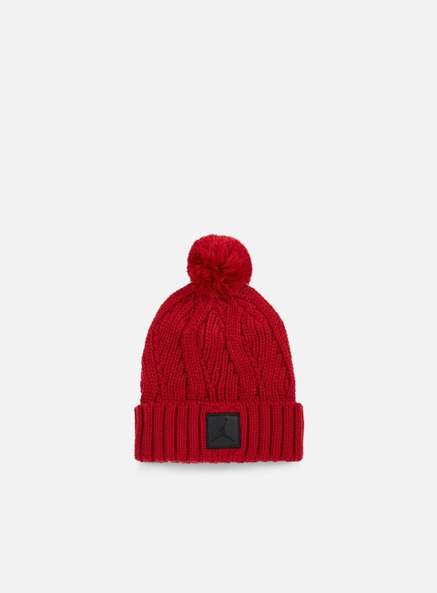 cappellini jordan jumpman pom beanie gym red black