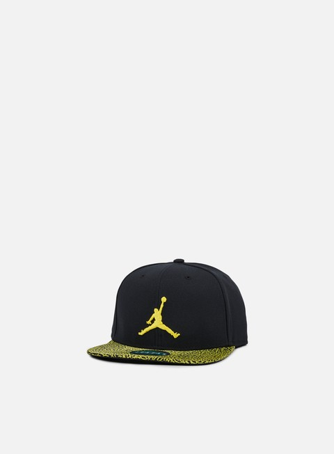 cappellini jordan jumpman snapback black optic yellow