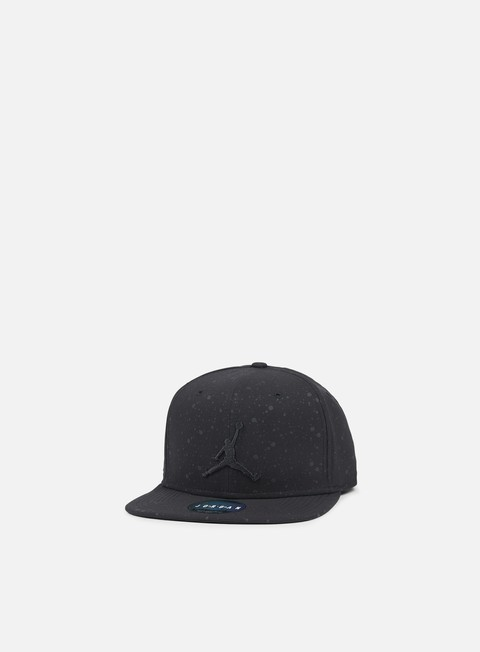 cappellini jordan speckle print snapback black black