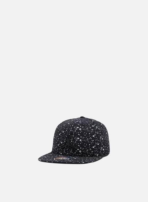 cappellini jordan speckle print snapback black silver