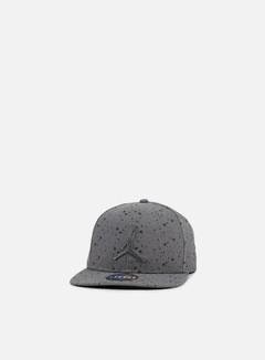 Jordan - Speckle Print Snapback, Dark Grey/Black